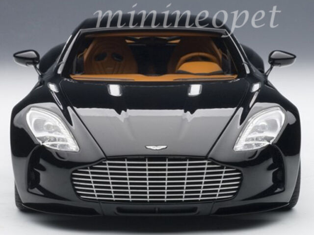 Superbe AUTOart 70241 ASTON MARTIN ONE 77 1/18 DIECAST MODEL CAR BLACK PEARL