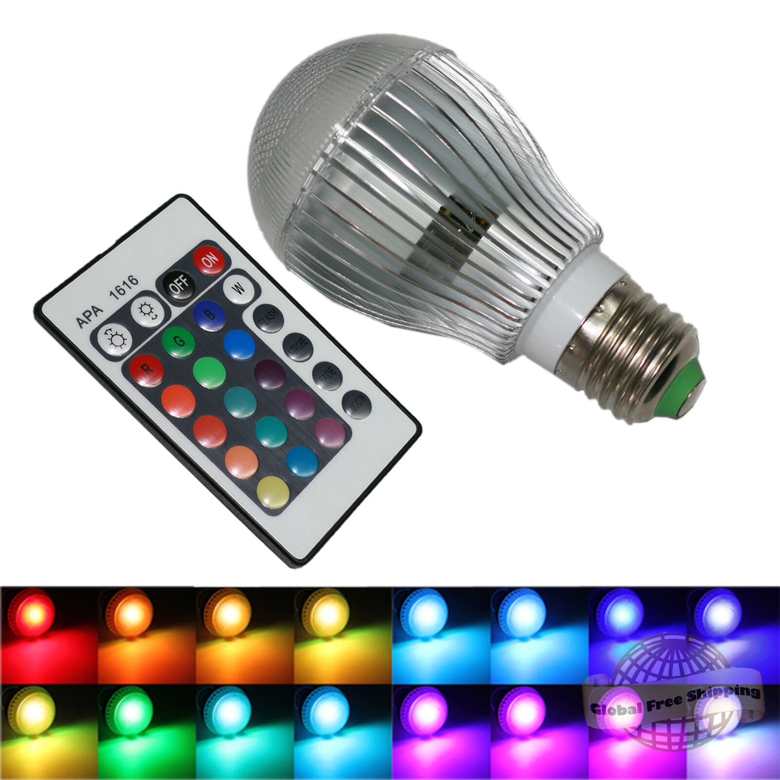 16 colors changing 9w magic e27 rgb led lamp light bulb ir remote picture 1 of 8 parisarafo Image collections