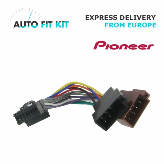 Pioneer 16 Pin ISO Wiring Harness Loom Adaptor Wire Radio Connector ...