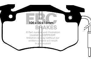 DP489 EBC Ultimax Front Brake Pads for C15 205 205 Van 305 Van 9 11 18 20