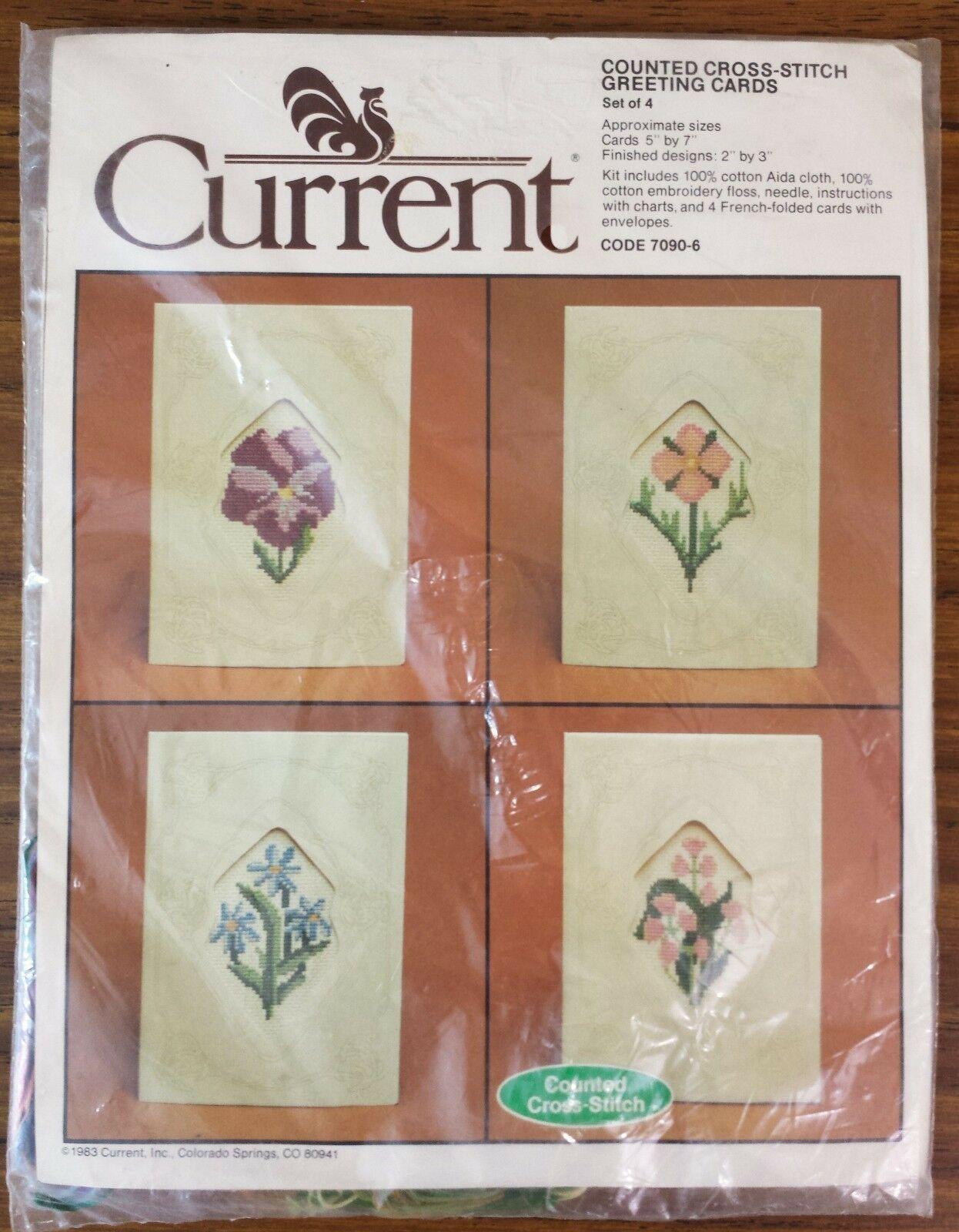 Floral greeting cards counted cross stitch kit set of 4 current picture 1 of 9 m4hsunfo