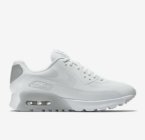 NEW Women's Nike Air Max 90 Ultra Essential Sz 6 8 White Wlf Grey 724981 100