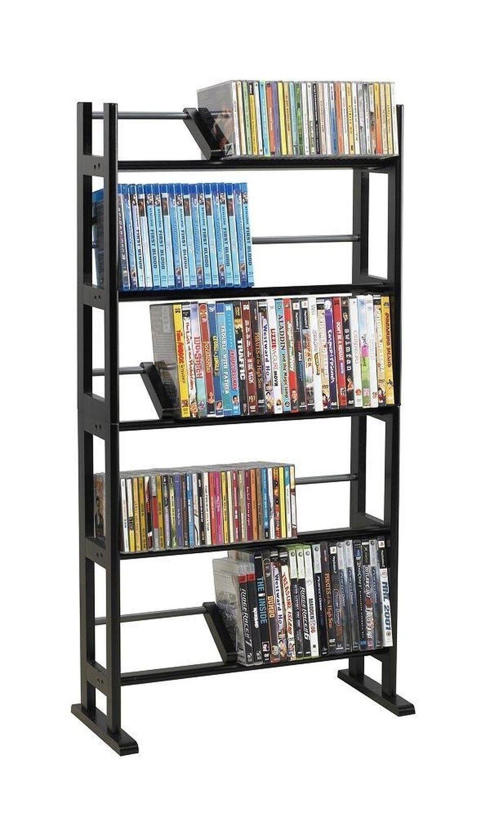 Atlantic Multimedia Rack DVD CD Storage Organizer Shelf Tower ...