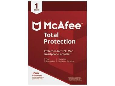 McAfee Total Protection 2018 for 1 Device / 1 Year