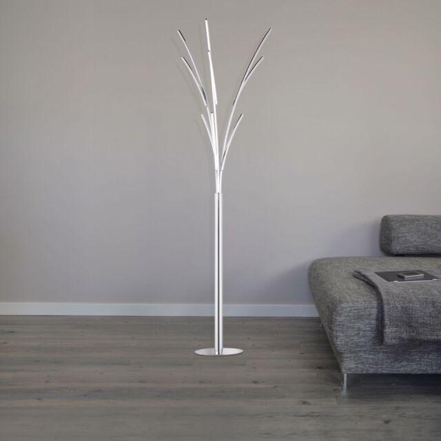 Wofi LED Stehleuchte Troy Chrom Schalter Stylisches Design 25 Watt 1600 Lumen