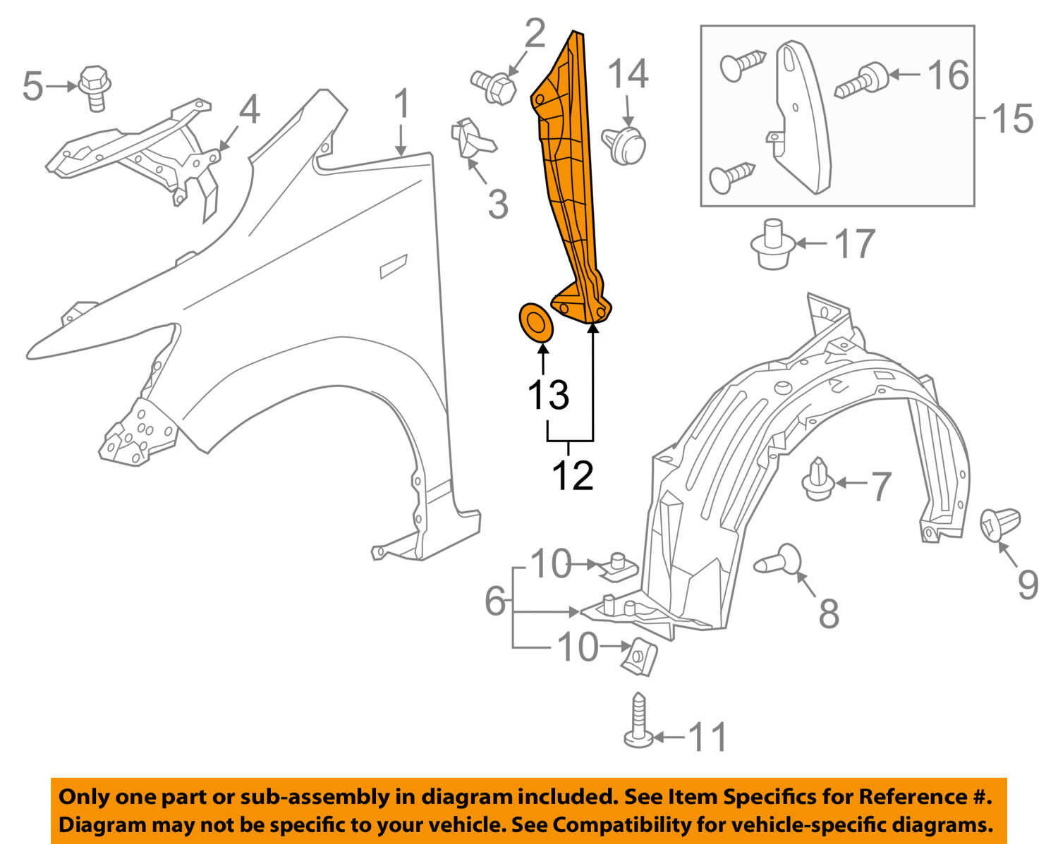 Honda Oem 2015 Fit Fender Rear Seal Right 74105t5a000 Ebay Diagram Picture 1 Of 2