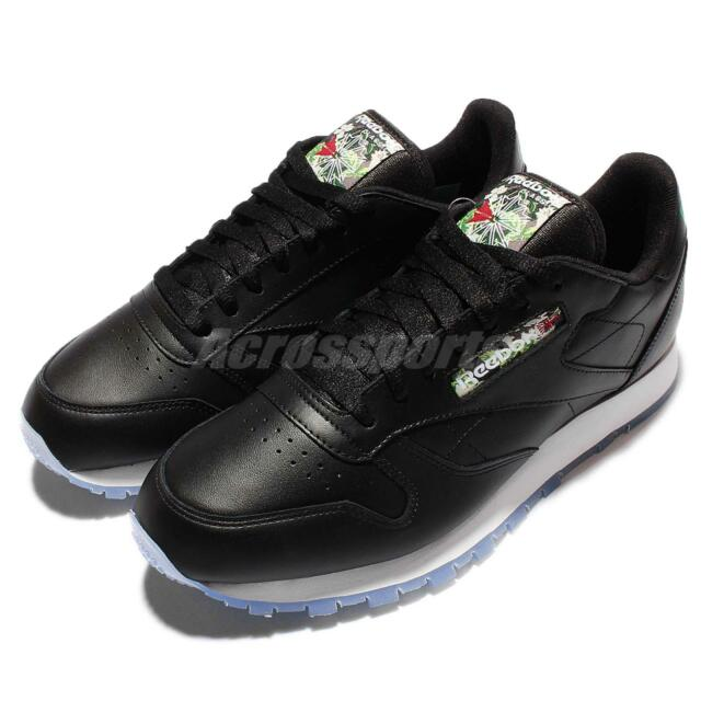 Reebok CL Leather SF Soft Leather Black White Mens Running Trainers Shoes  V67859