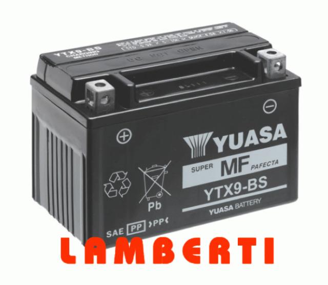 BATTERIE ORIGINAL YUASA YTX9-BS AEON URBAN 125 2011 2012 2013
