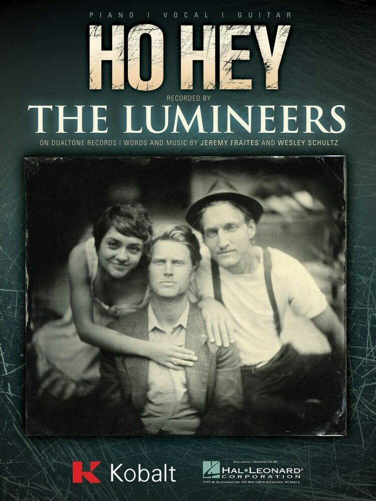 Ho Hey Sheet Music Piano Vocal The Lumineers 000116369 Ebay