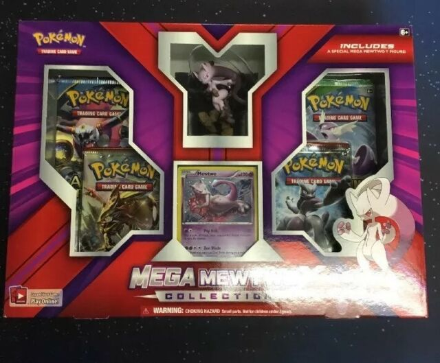 Pokemon Mega Mewtwo X and Mega Mewtwo Y Collection Trading Cards