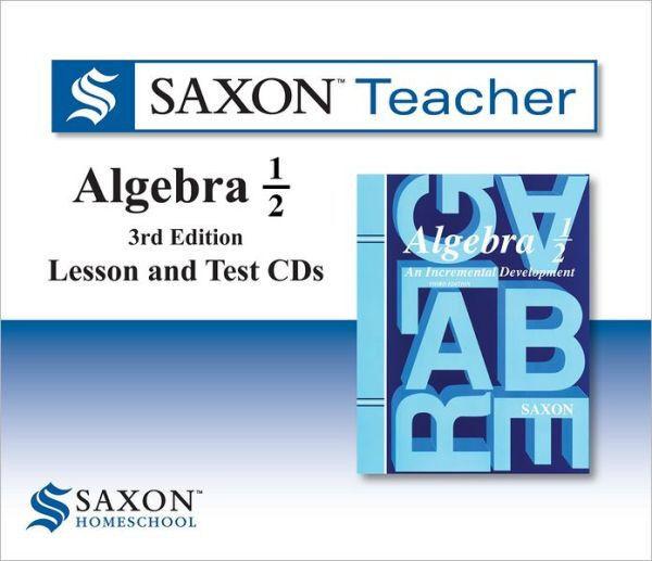 Saxon Teacher Algebra 1/2 Lesson and Test CDs 3rdd Edition Math | eBay