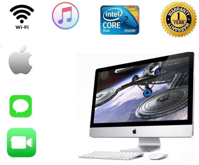 "APPLE IMAC POWERFUL 4.0GHZ 1TB - 8GB CORE 2 DUO 20"" MAC OS X EL CAPITAN DVDRW"