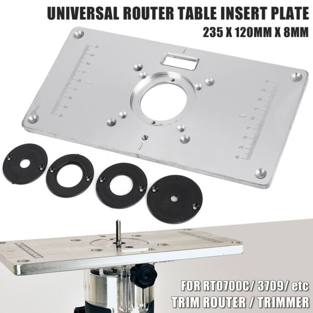 Aluminium router table insert plate for rt0700c universal trimmer aluminium router table insert plate for rt0700c universal trimmer woodworking greentooth Images
