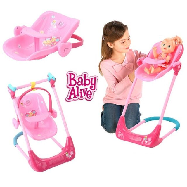 Baby Alive Swing Amp High Chair Combo Model 20817763 Ebay