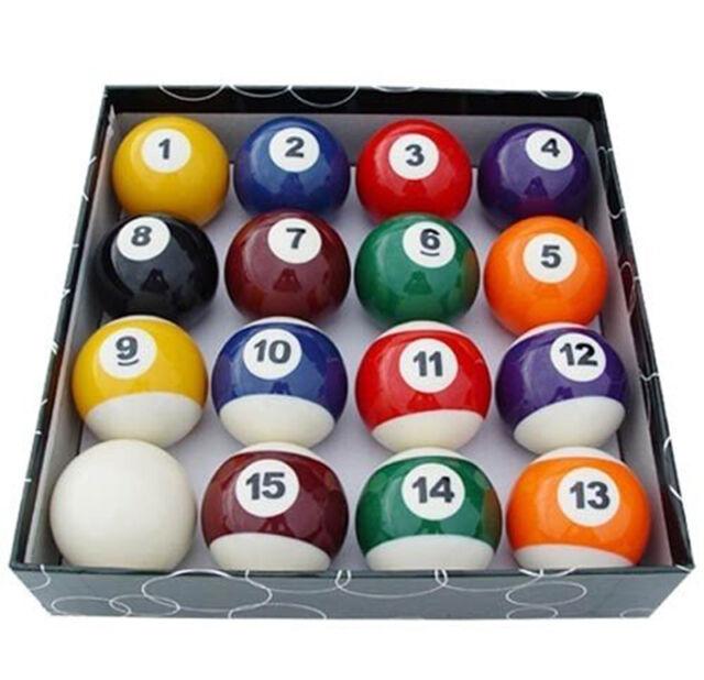 set of 16 miniature small mini pool balls billiard 1 1 4 ebay. Black Bedroom Furniture Sets. Home Design Ideas