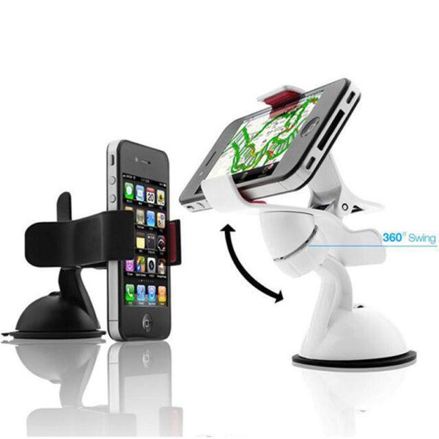 360°Rotation Car Holder Mount Windshield Bracket for GPS Mobile Phone