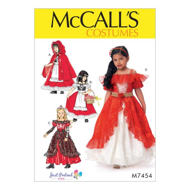 Mccall\'s Sewing Pattern Costumes Girls Dresses Cape Petticoatsize 3 ...