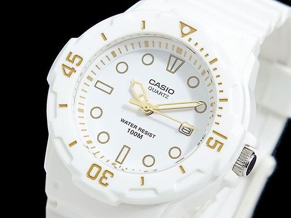 LRW-200H-7E2 Japan Movt New Genuine Casio Watch 100M Date Display Analog White