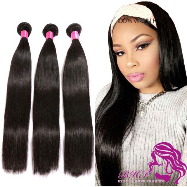 100 Remy Peruvian Virgin Human Hair Extensions Straight Bundles