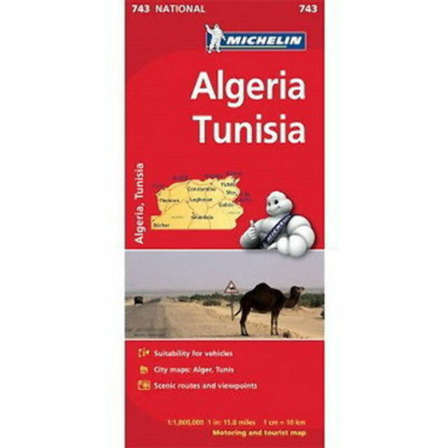Algeria Tunisia Michelin National Map 743 Motoring and Tourist