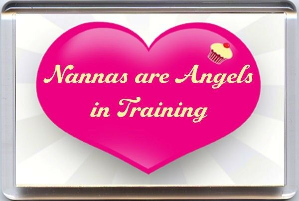 NANNAS are ANGELS in TRANING Fridge Magnet Unique Christmas Birthday Gift Idea