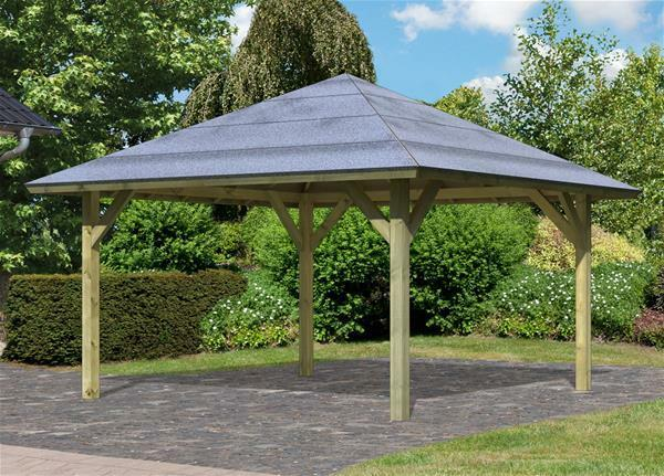 carport pavillon karibu classic kirn 1 walmdach 431x431cm ebay. Black Bedroom Furniture Sets. Home Design Ideas
