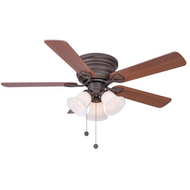 Clarkston 44 in oiled rubbed bronze ceiling fan with light kit clarkston 44 in oiled rubbed bronze ceiling fan with light kit b99104s ebay aloadofball Images