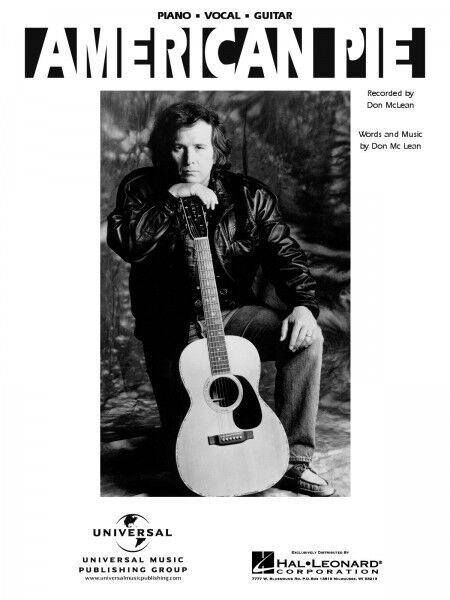 American Pie Song By Don Mclean Piano Sheet Music Guitar Chords