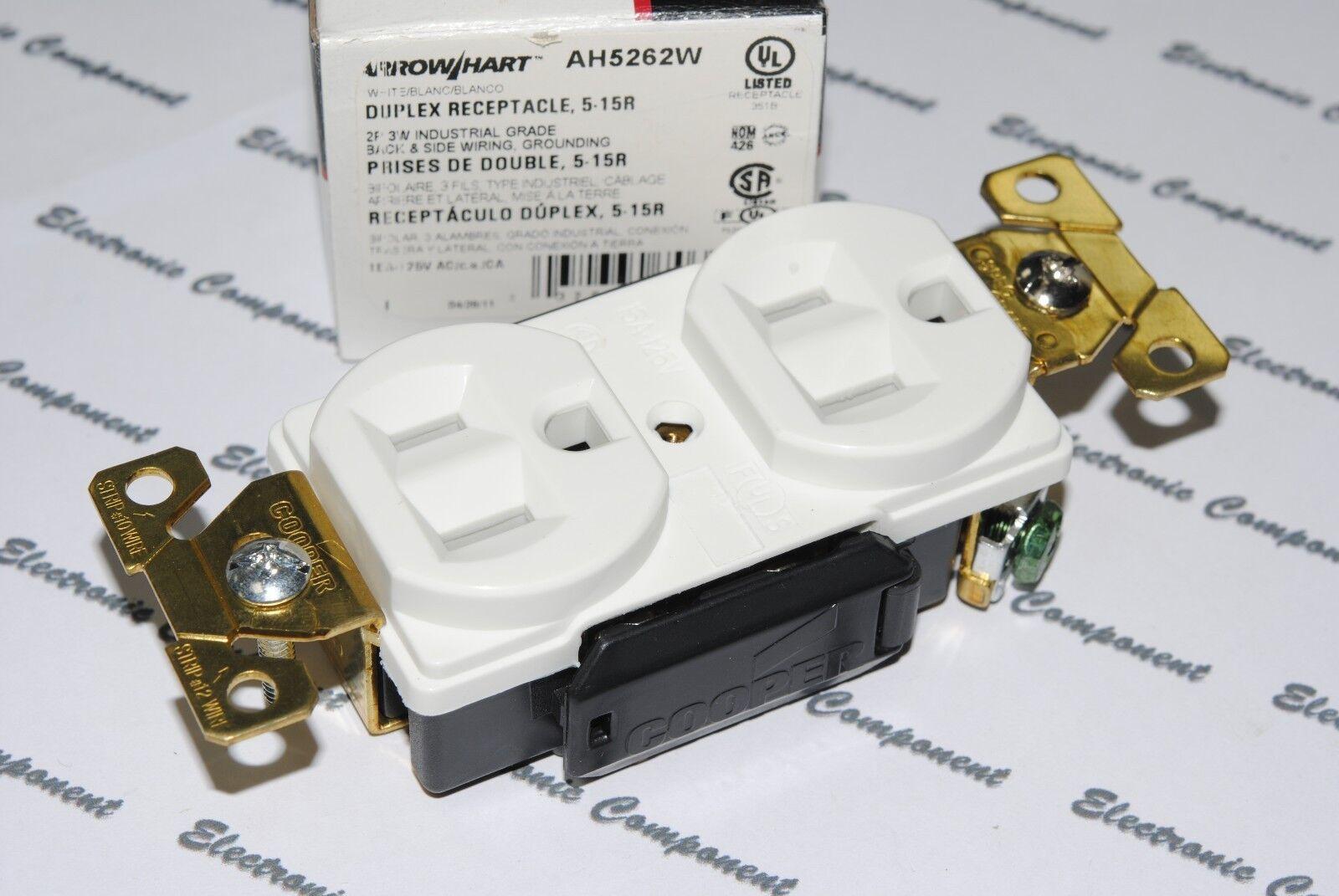 1pcs-cooper Wiring Ah5262w Premium Industrial Grade Duplex ...