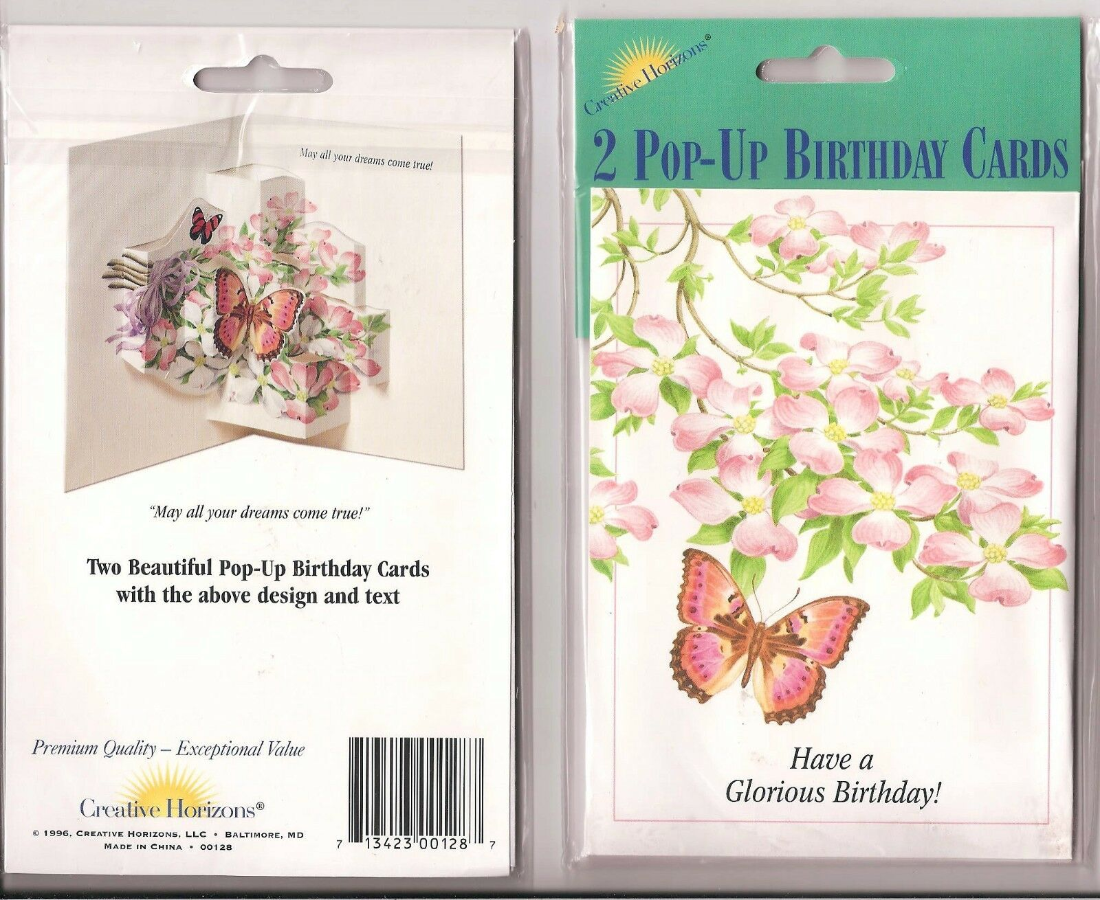 2 creative horizons old fashioned pop up birthday cards flowers picture 1 of 1 izmirmasajfo Choice Image