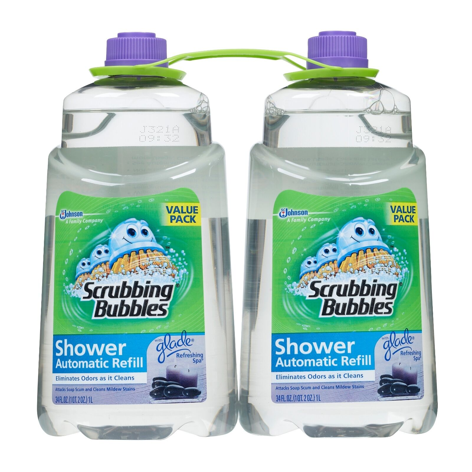 Scrubbing Bubbles Automatic Shower Cleaner Refill Refreshing Spa 64 ...