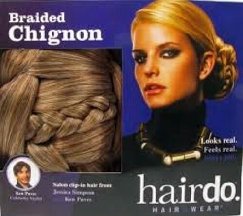 Chignon Hair Bun Jessica Simpson Clip In Synthetic Braided - Choose Shade