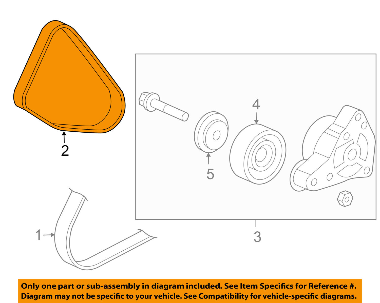 Serpantine Honda 24l Engine Diagram Reinvent Your Wiring 2003 Accord Oem 03 05 2 4l L4 Belt Serpentine Drive Fan 31110raaa03 Rh Ebay Com 2000