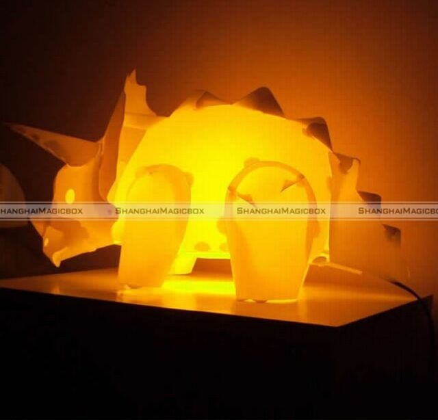 DIY Triceratops Dinosaur Desk Lamp Night Light Children Kids