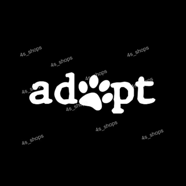 Adopt paw sticker dog cat pet animal rescue car truck rear window vinyl decals