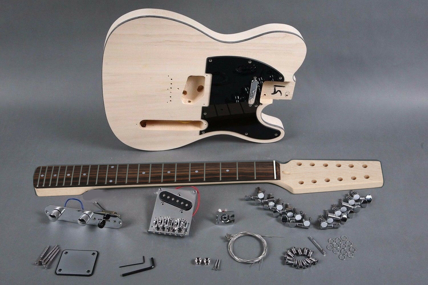 12 String DIY Tele Style Electric Guitar Luthier Project Builder