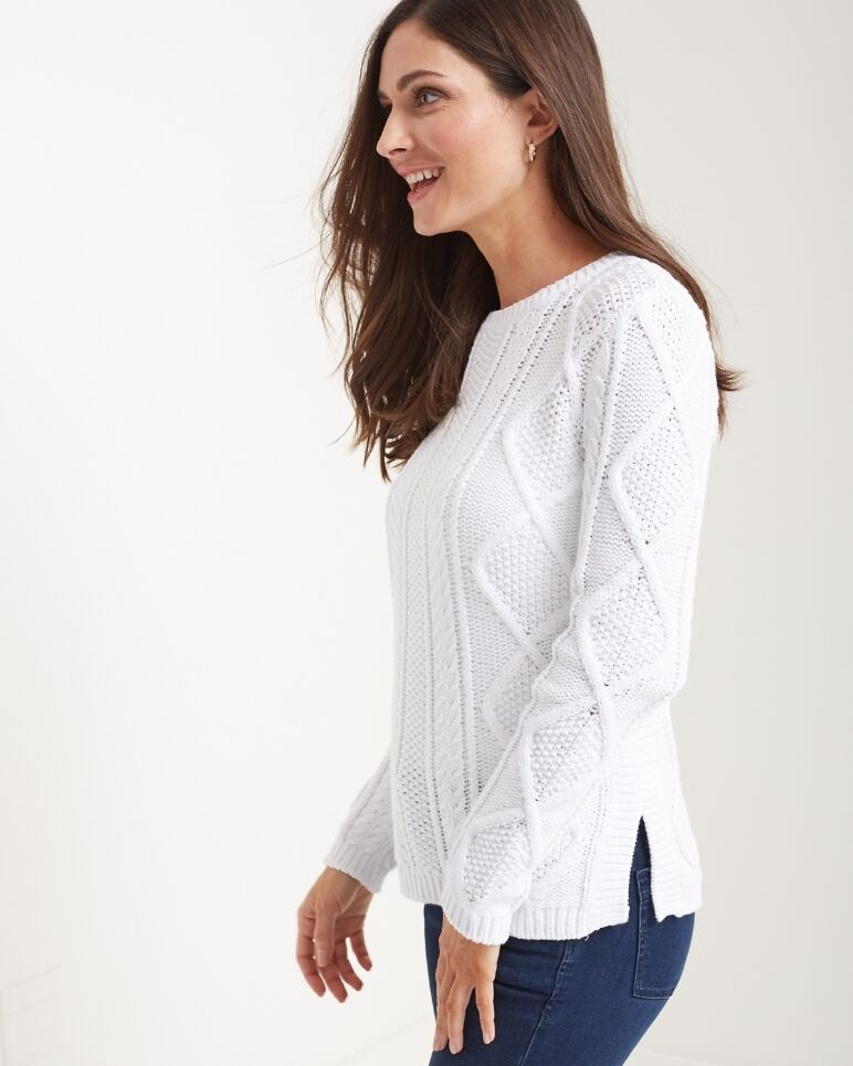 Tommy Bahama Women Szs Nearly Cable Cotton Pullover Sweater in ...
