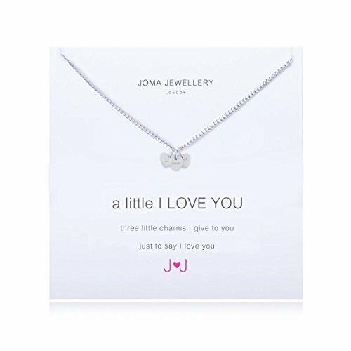 Joma Jewellery Silver plated Necklace A little I Love You