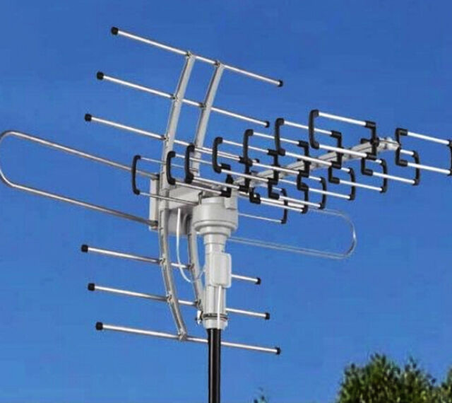 150miles Outdoor Tv Antenna Motorized Amplified Hdtv Vhf