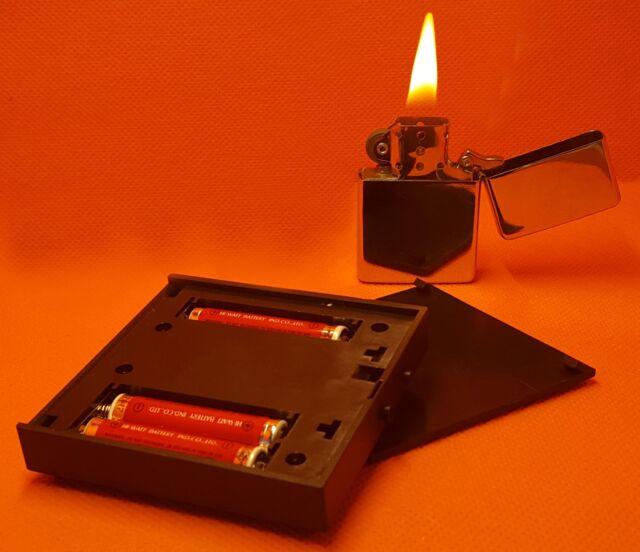 LED Leuchtsockel Weiß LED Deko 3D 2D Laser Fotos Glaswürfel Geschenk NEU