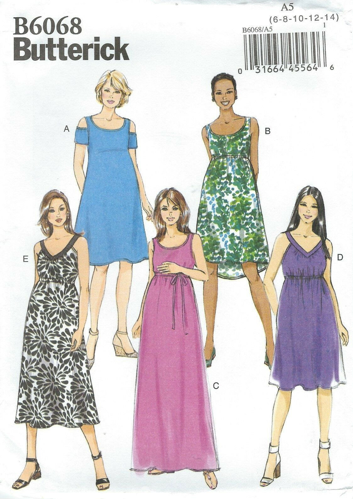 Misses maternity dress butterick pattern 6068 size 6 14 ebay picture 1 of 2 ombrellifo Image collections