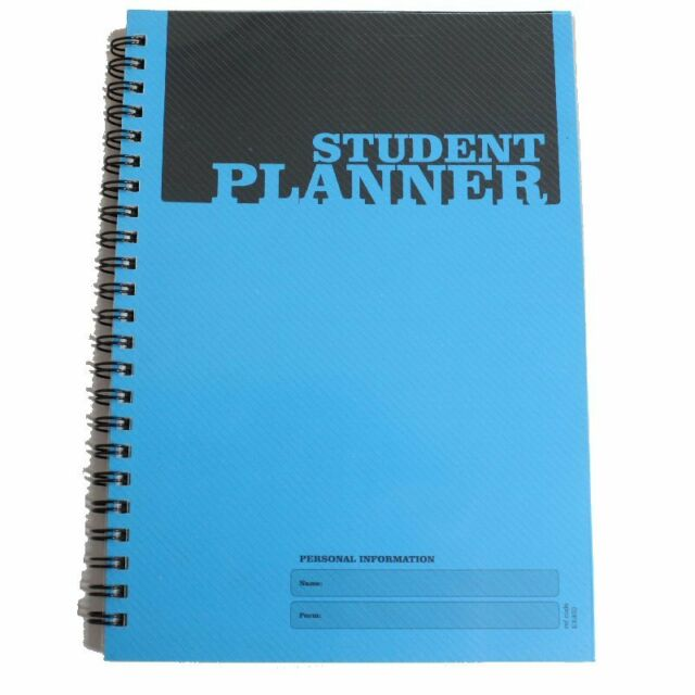 Silvine Twin Wire A5 Student Planner Book TimeTable 140 Page EX400 G1SP
