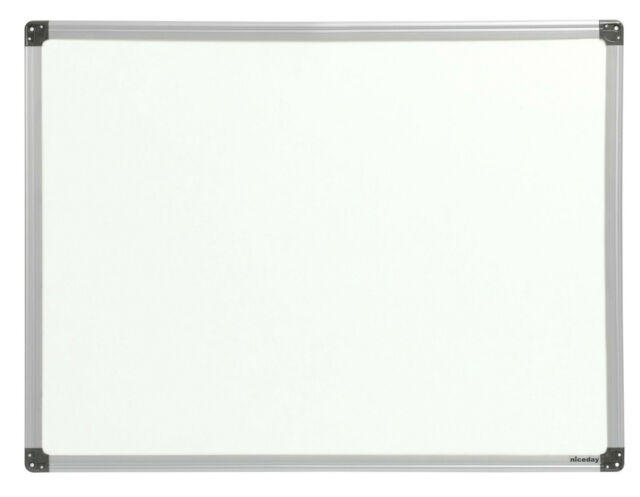 niceday whiteboard plastic aluminium finish frame x 900 mm non magnetic