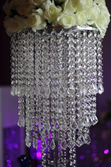 10pcs acrylic crystal wedding centerpiece table chandelier tall 10pcs acrylic crystal wedding centerpiece table chandelier tall diameter decor junglespirit Image collections