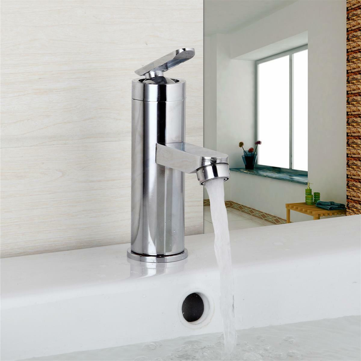 Chrome Brass Waterfall Bathroom Basin Faucet Single Handle Hole Sink ...