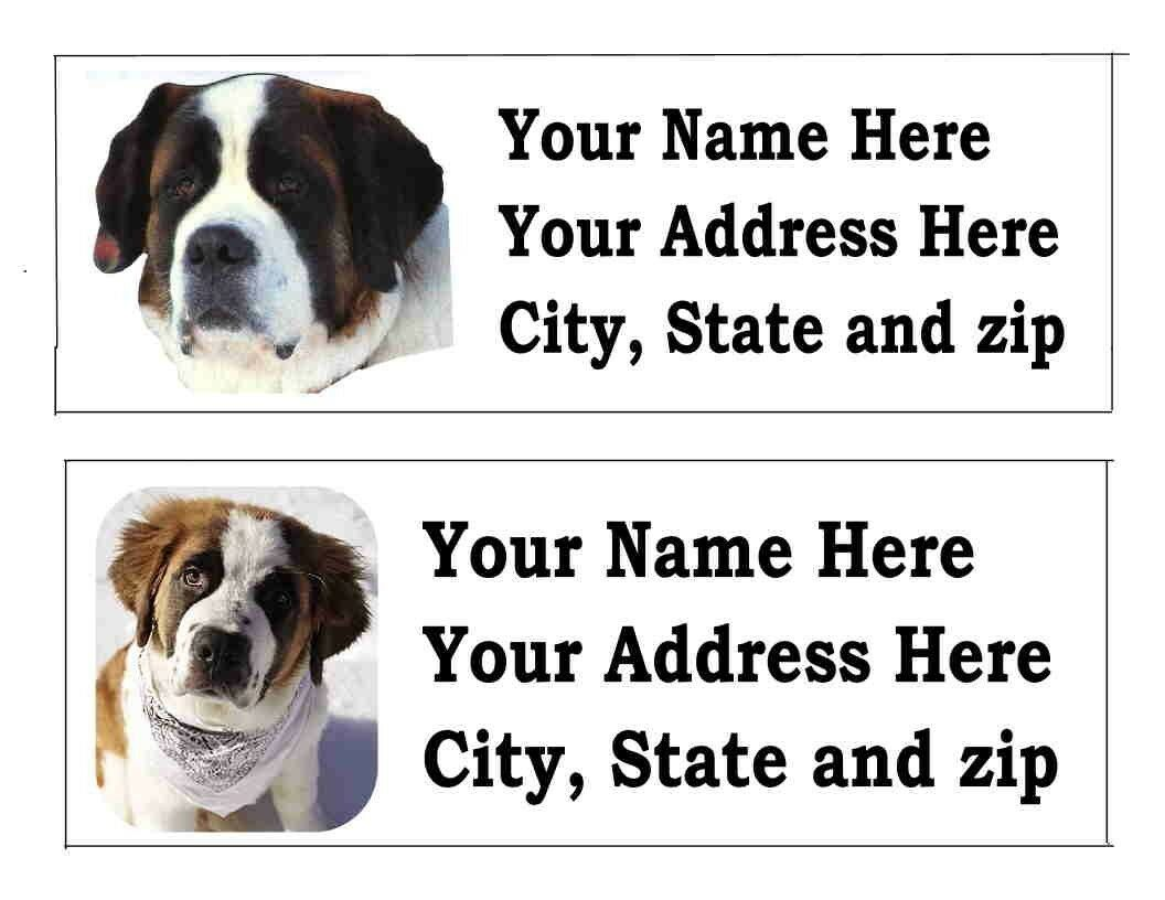 120 st bernard dog pet return address labels ebay