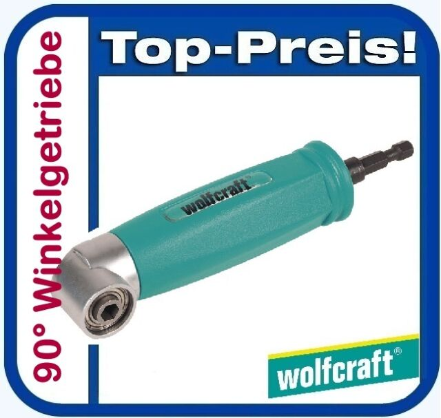 """WOLFCRAFT 4688000 Winkelschrauber Schaft 6 mm 1/4"""" Bits 6-Kant Winkelgetriebe"""