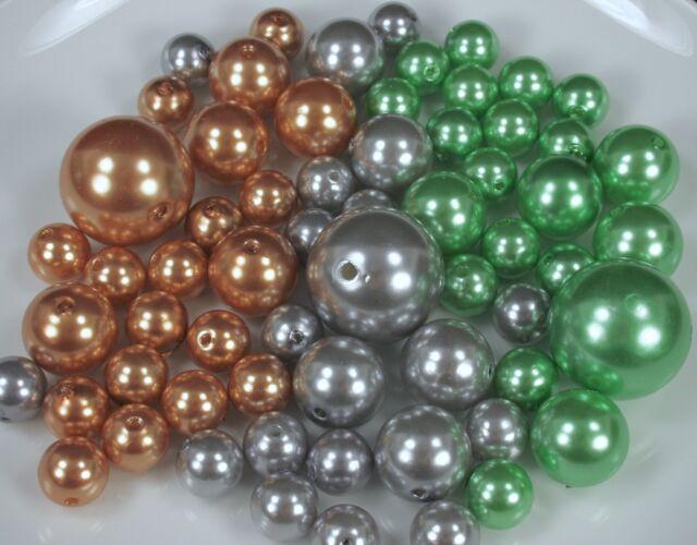 Christmas Set 250 Elegant Vase Fillers Assorted Pearls Beads 3