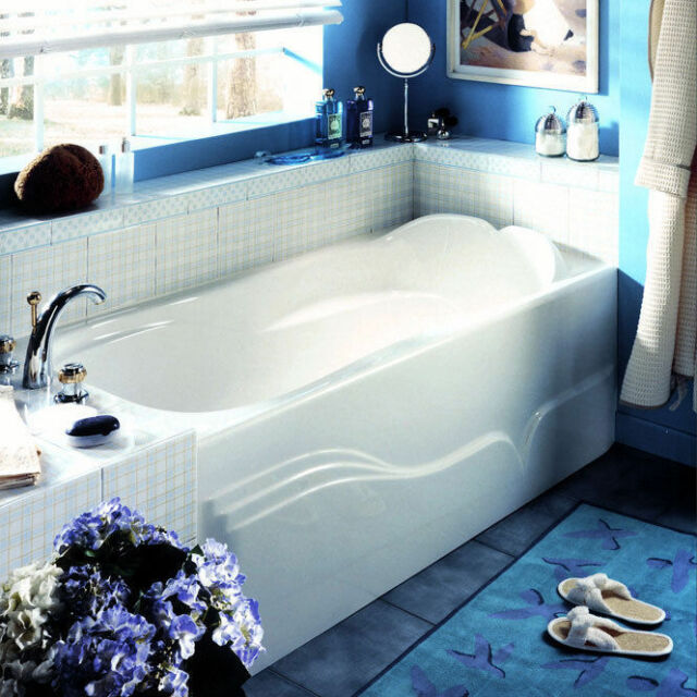 Neptune Daphne 60 X 32 Acrylic Rectangle Bath Tub Soaker Apron ...