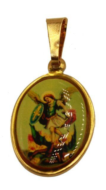 St michael archangel pendant san miguel 18k gold plated with 20 st michael archangel pendant san miguel 18k gold plated with 20 inch chain aloadofball Image collections